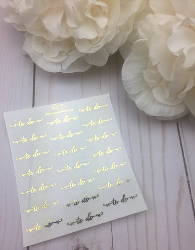 Foil Bow To Do  Script Planner Stickers