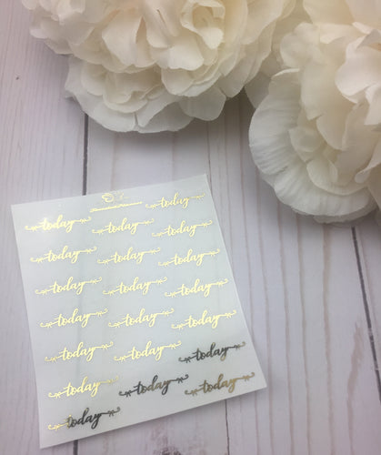 Foil Bow Today Script Planner Stickers
