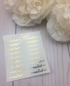 Foil Bow Workout Script Planner Stickers
