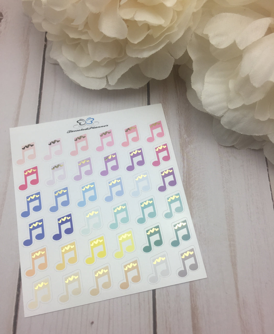 Foil Music Planner Stickers | Planner Stickers