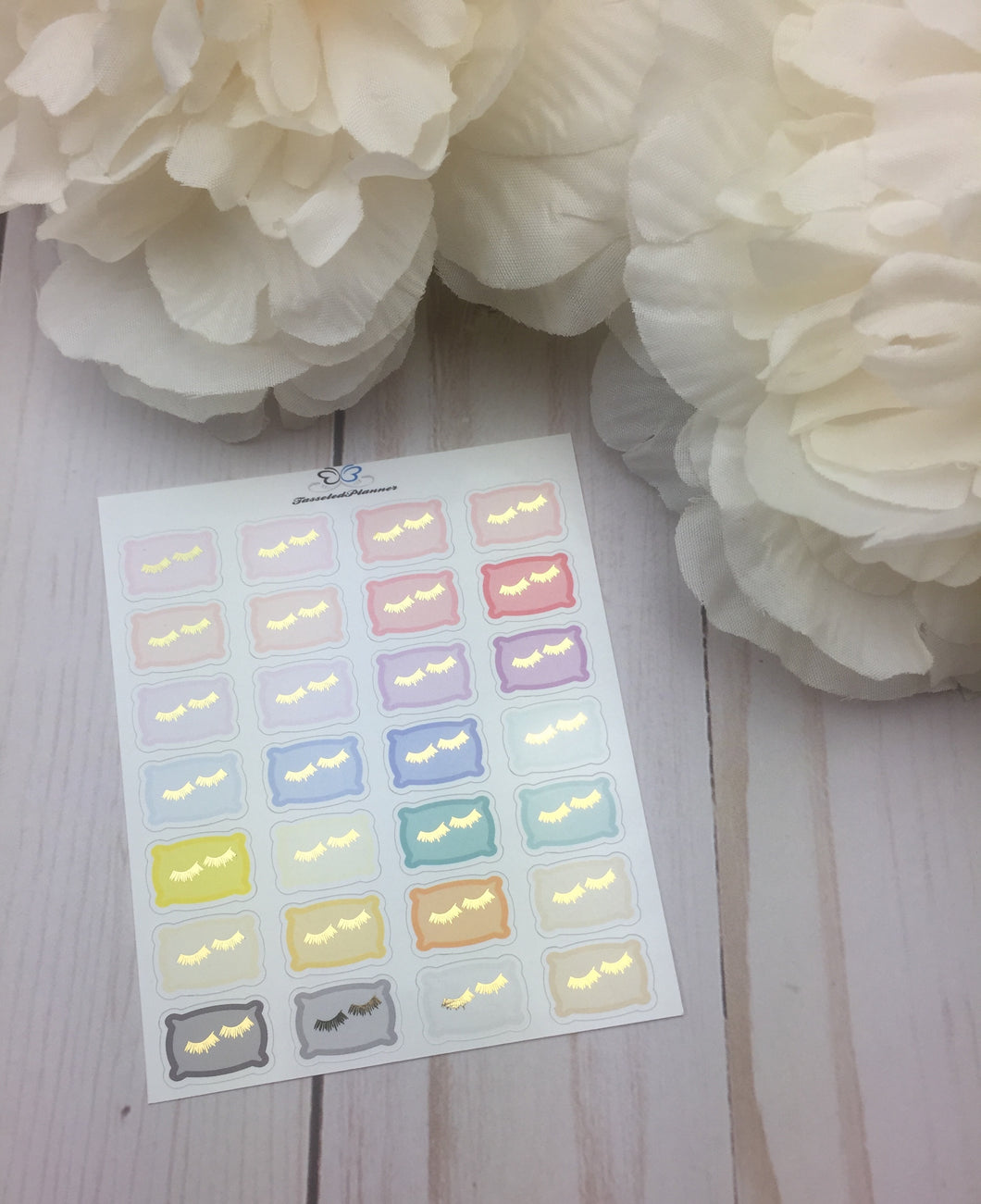 Foil Pillow Planner Stickers | Foil Sleep In Planner Stickers | Planner Stickers