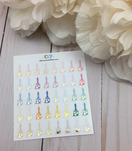 Foil Paint Brush Icons Planner Stickers