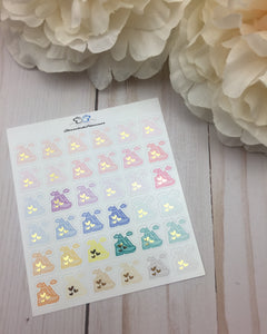 Foil Hiking Icons Planner Stickers