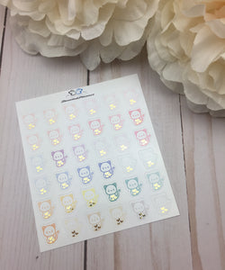 Foil Cat  Icons Planner Stickers/ Foil Pet Icons Planner Stickers