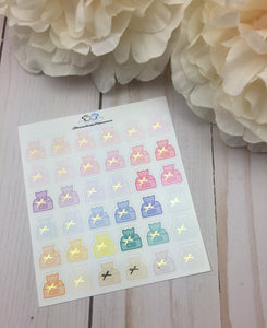 Foil Sick Day Icons Planner Stickers/ Foil Kleenex Icons Planner Stickers