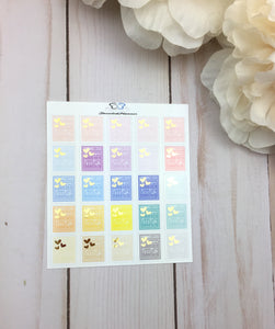 Foil Dishwasher Planner Stickers | Planner Stickers