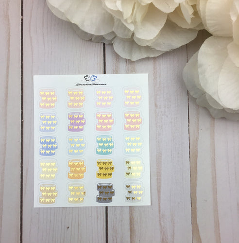 Foil Washi Tape Stack Planner Stickers | Foil Washi Rolls Planner Stickers