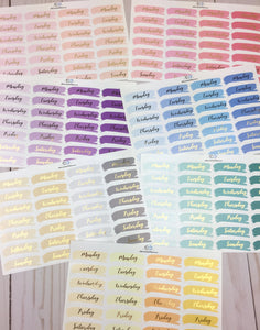 Foil Bow Brush Date Covers Planner Stickers | Choose Your Color Way