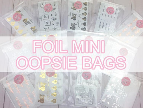 Foil Mini Oopsie Bags Planner Stickers
