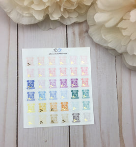 Foil Coffee Maker Planner Stickers | Foil Keurig Planner Stickers