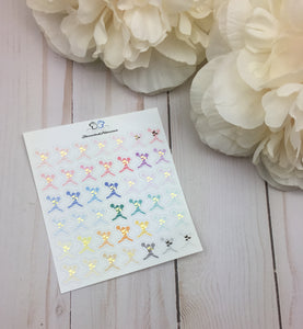 Foil Cheerleader  Planner Stickers