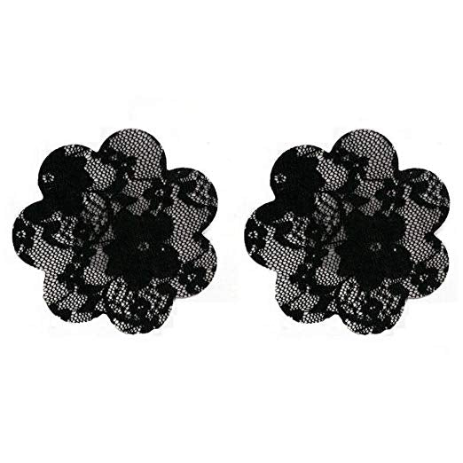 Lace Nipple Covers Pasties Black