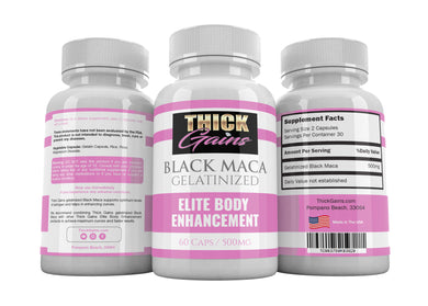 Thick Gains BLACK MACA Gelatinized