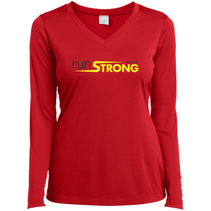 Sport-Tek Ladies' LS Performance V-Neck T-Shirt