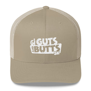 Guts and Butts 5k Trucker Cap White Logo