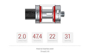 Smok Vape Pen Tank Sub ohm top Fill 2ml - Uni Vapes