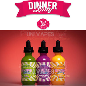 Dinner Lady 50 M  E Liquid Vape Juice 0mg - Decent deals - British Made - Uni Vapes