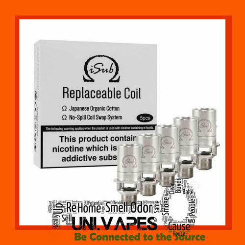 Innokin iSub Tank Replacement Coils 0.5 ohm 0.2 ohm 1.0 Ohm 2.0 - Uni Vapes