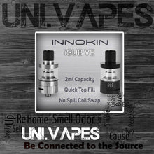 Load image into Gallery viewer, Authentic Innokin iSub VE V.E Vortex  2ml Tank + 2 x 0.5Ω Coils included - Uni Vapes