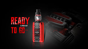 SMOK E-PRIV Kit 230W -Free BIG BULB GLASS -  TFV12 NewTank - Uni Vapes