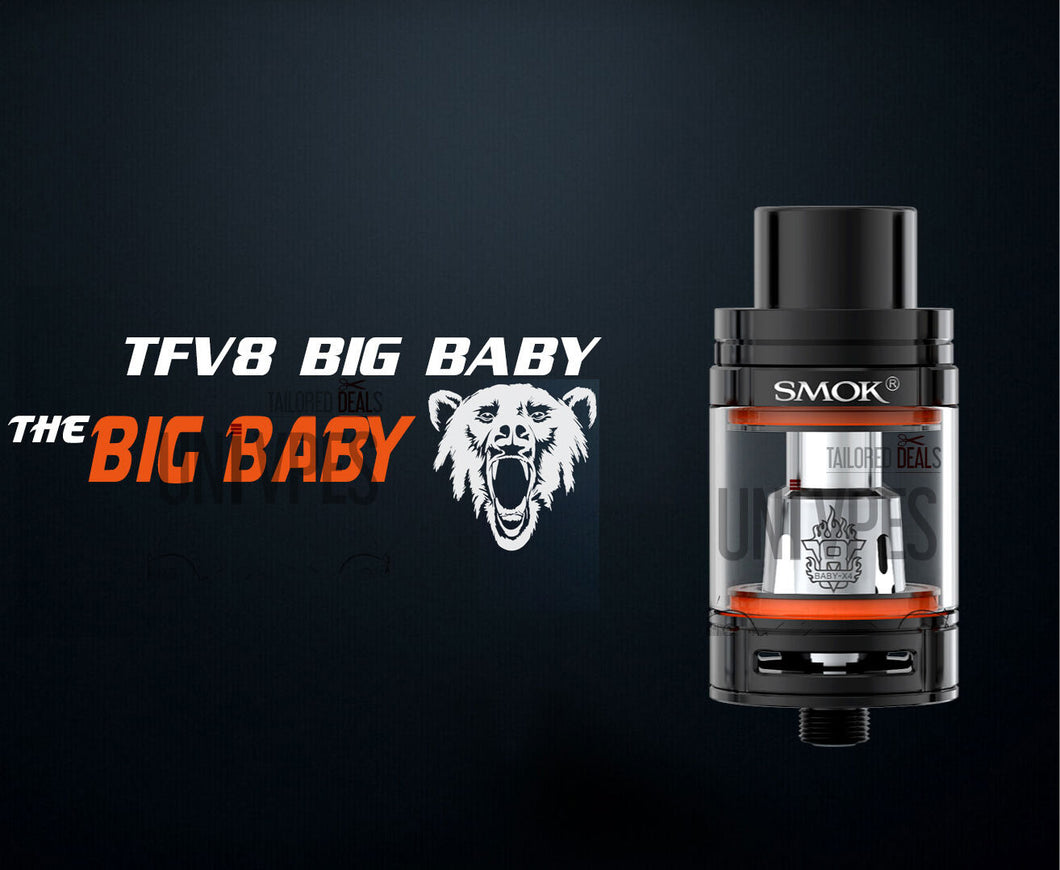 SMOK TFV8 Big BABY Tank 100% Authentic - Uni Vapes