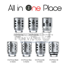 Load image into Gallery viewer, TFV12 Smok Prince Coils. V12 - T10 - X6 - M4 - Q4 - Mesh - Strip Coils - Clapton - Uni Vapes