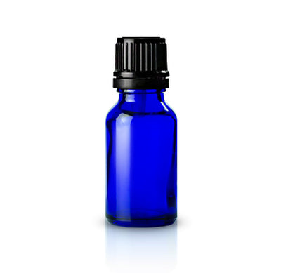 15 ml. Glass Bottle | Blue | 10-Pack