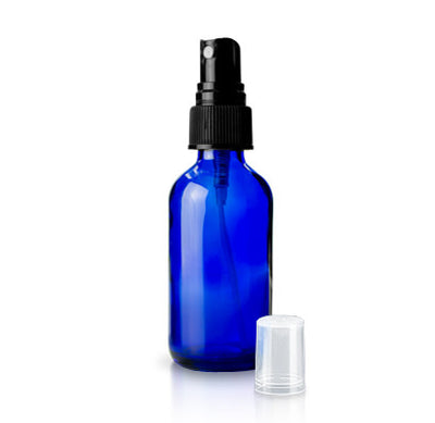 1 oz. Glass Spray Bottle | Blue | 5-Pack