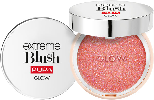 PUPA MILANO EXTREME BLUSH GLOW hightlighting hehkuva poskipuna.