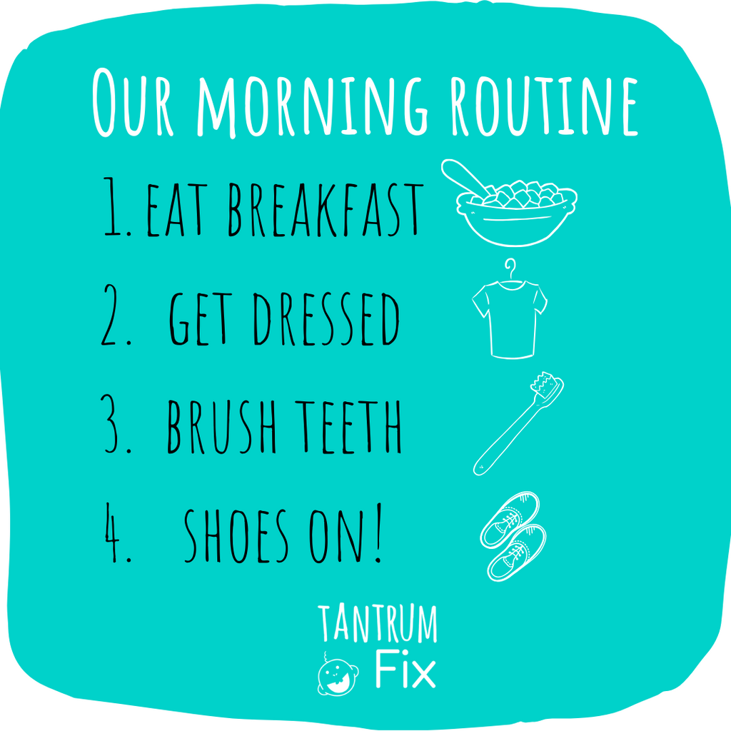 How to establish a productive morning routine for little kids - back to school tips!