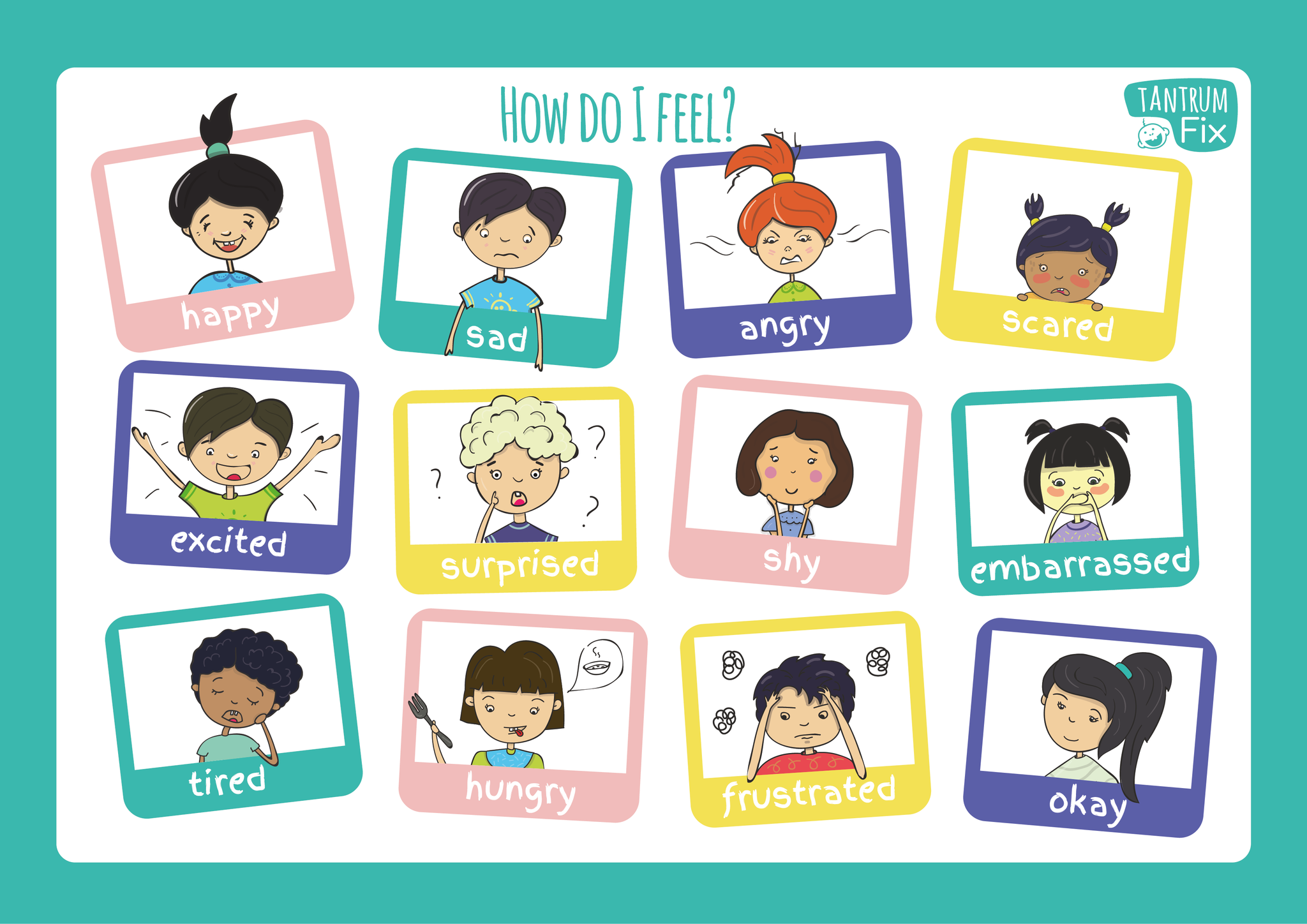 Magnetic Emotions Chart for Toddlers (New!)