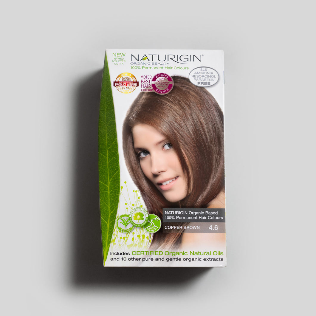 NATURIGIN natural hair dye – Copper Brown 4.6