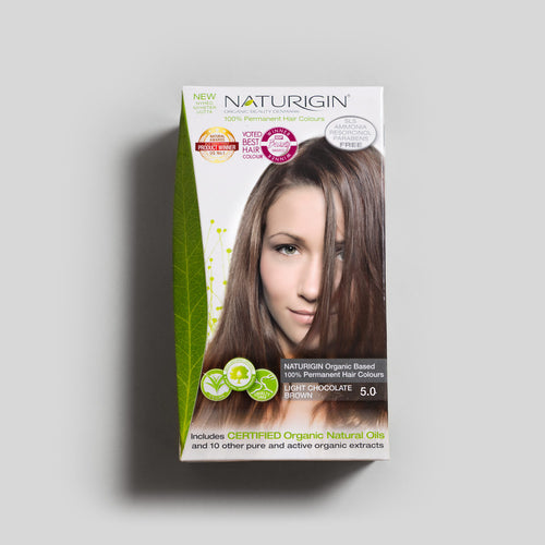 NATURIGIN natural hair dye – Light Chocolate Brown 5.0