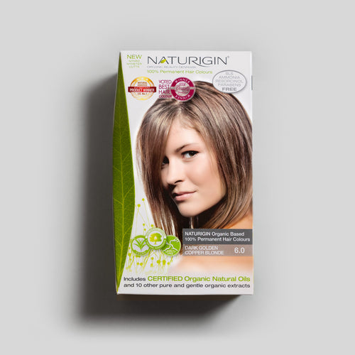 NATURIGIN natural hair dye – Dark Golden Copper Blonde 6.0