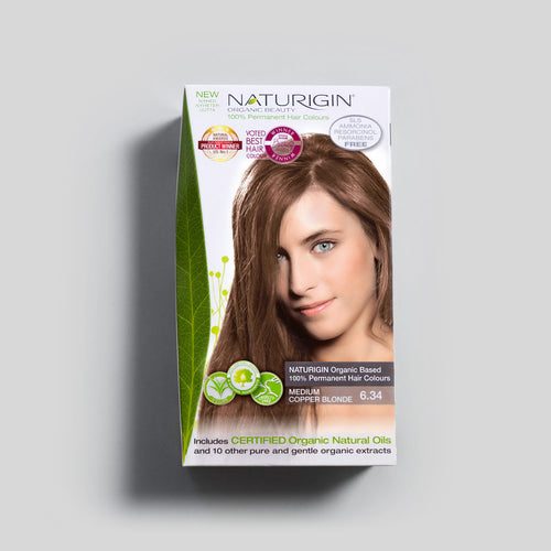 NATURIGIN natural hair dye – Medium Copper Blonde 6.34
