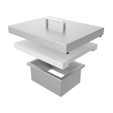 Hestan Aspire Countertop Trash Chute and Cutting Board