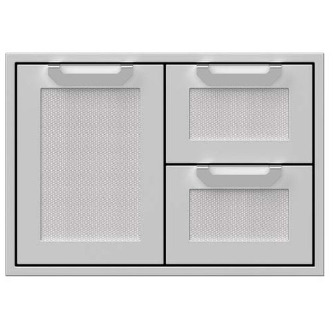 "Hestan 30"" Double Drawer and Door Storage Combo"