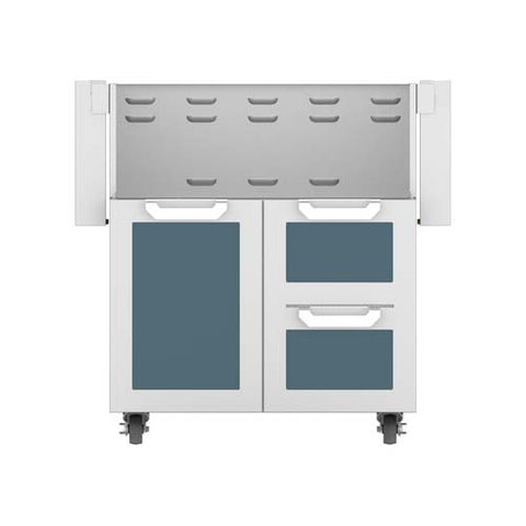 "Hestan 30"" Double Drawer and Door Cart"