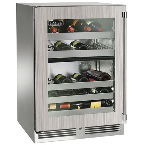"Perlick 24"" Outdoor Signature Series Dual-Zone Wine Reserve"