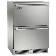 "Perlick 24"" Indoor Signature Series Dual Zone Freezer/Refrigerator Drawers"