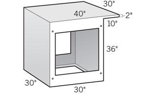 "LOC 90° Corner Height Corner Cabinet with 10"" Cantilever"