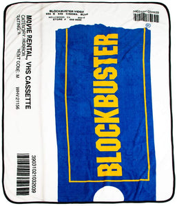 Blockbuster VHS Case Digital Fleece Throw - Officially Licensed
