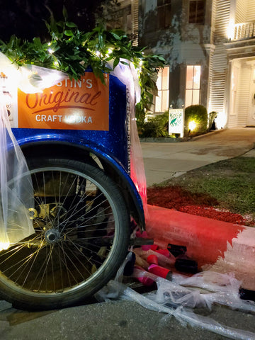 CAPTION Book a Wedding Pedicab with Your Own Decorations - $130