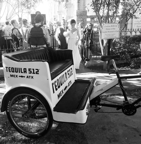 CAPTION Book a Wedding Exit Pedicab without Decorations - $90