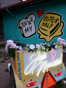 Wedding Exit Pedicab with Premium Decorations