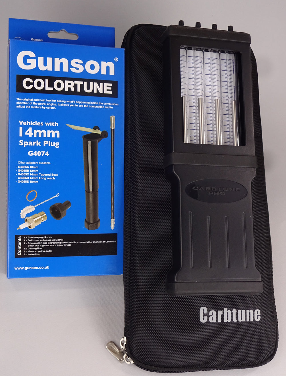 Carbtune Pro 4-column, Toolpouch, Colortune single plug and other variations.