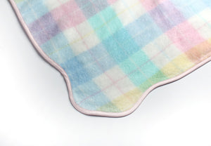 Plaid Blanket scalloped edge