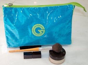 Blue with Lime Green trim cosmetic case