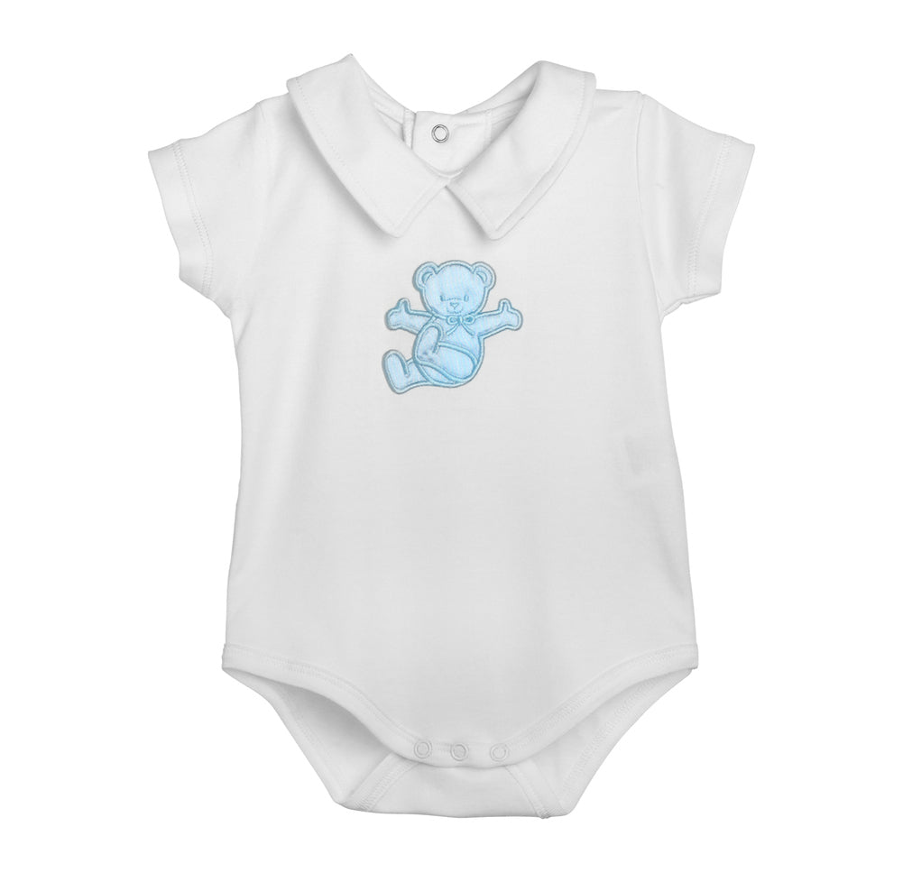 Short sleeve bodysuit with lazy bear
