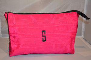 Cerise with black trim cosmetic case
